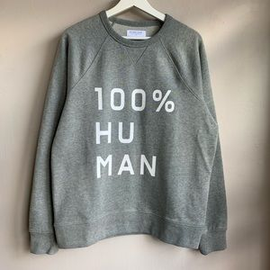 Everlane 100% Human graphic sweatshirt NWOT